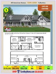 modular home all american cape cod stafford plan price p9 floor