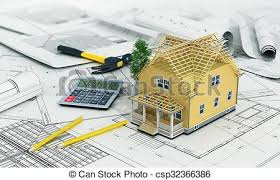House Building Calculator Stock Illustration Of Concept Of Construction And Architect Design