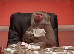 Baboon Meme - upvote the money baboon and you will find money gif on imgur