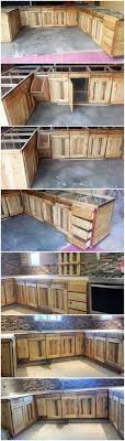 how to build base cabinets out of plywood diy wood pallet kitchen cabinets pallet wood projects
