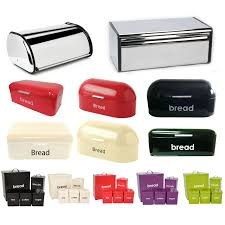 bread bin kitchen storage loaf roll box vintage tea coffee sugar