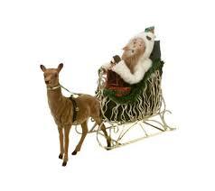 byers choice carolers santa in sleigh qvc
