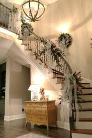 Banister Decorations Top 40 Staircase Garland Designs For Christmas Christmas