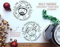 self inking christmas teacher stamps teacher christmas gifts