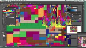 super colorful rectangular grid in illustrator and super colorful grids tutorial