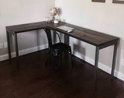 industrial desk l l shaped desk etsy