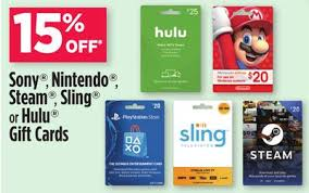store gift cards dollar general in store select gift cards psn nintendo hulu