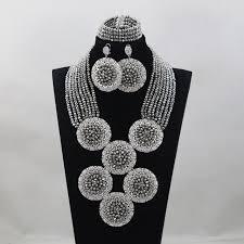 aliexpress bead necklace images Buy top design silver nigerian wedding african jpg