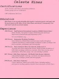 Facilitator Resume Sample by Dance Resume Template Best Template Design