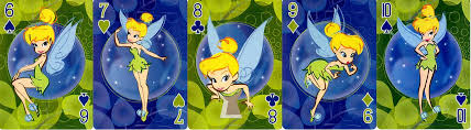 tinker bell playing cards