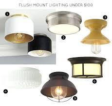 farmhouse semi flush light flush mount lighting the maverick exposed bulb flush mount light