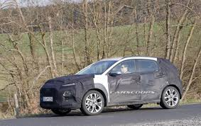 spied 2018 hyundai kona sub compact suv is almost ready
