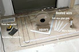 how to install a heated tile floor and also how not to install