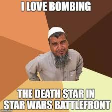 Star Wars Love Meme - i love bombing the death star in star wars battlefront meme