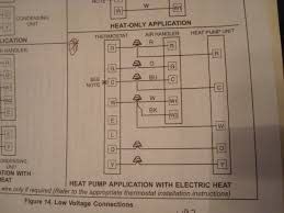 which diagram to use on lenox thermostat wiring setup heat pump