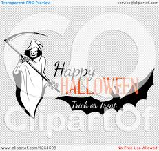 halloween bat no background clipart of a grim reaper and bat with happy halloween trick or