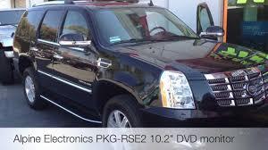cadillac escalade dvd player alpine pkg rse2 dvd monitor 2012 cadillac escalade rear seat