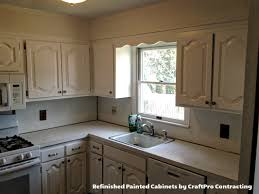 Kitchen Cabinets Refinished Cabinet Painting U0026 Refinishing Photo Gallery U2013 Craftpro