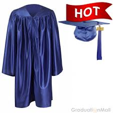 graduation caps and gowns kindergarten graduation cap gown package royal blue