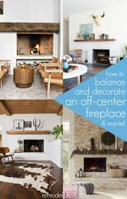 how to decorate around a fireplace remodelaholic decorating around an off center non functional