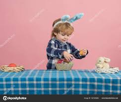 easter plays for children easter happy holidays child plays like a bunny with