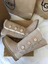ugg s boots size 11 ugg australia bailey button triplet sand suede sheepskin boot 1873