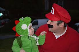 halloween with a little yoshi father nerds best