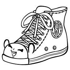shopkins shoe shopkins coloring pages