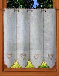 brise bise coeur rideau de cuisine champetre aspect lin