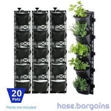 Ebay Vertical Garden - vertical garden kit 20 pots green wall hanging planter box diy