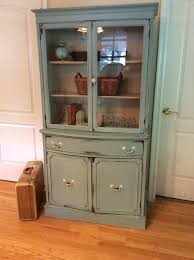 Macys China Cabinet Small China Cabinet Painted With Annie Sloan Duck Egg Blue And
