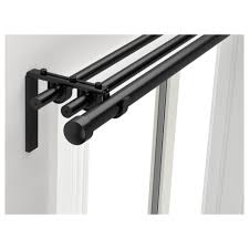 Tension Rods For Windows Ideas Furniture Triple Black Metal Curtain Rods Bed Bath And Beyond
