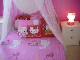 girls bed net awesome girls bedroom decoration with hello kitty themed and white