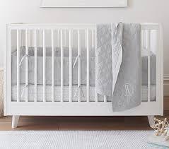 Crib Bedding Set For Boys Belgian Flax Linen Baby Bedding Sets Pottery Barn