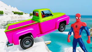christmas party colors cars and trucks funny with spiderman
