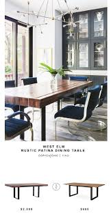 Chic Dining Room Sets West Elm Rustic Patina Dining Table Copycatchic