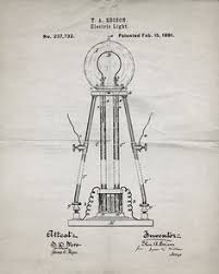edison light bulb invention set of 4 thomas edison steunk patent prints unframed posters 8 5