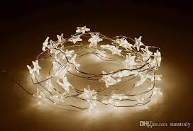 Christmas Wedding Decor - led star copper wire string led fairy lights christmas wedding