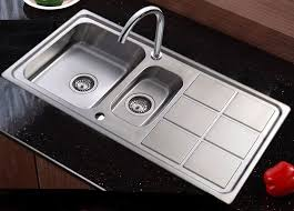 Double Bowl L Stainless Steel Kitchen Sink Drainer  Waste Kit - Kitchen sink waste kit