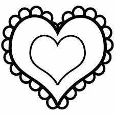 outline heart shape clip art 52