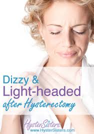 headache light headed tired dizzy and light headed after hysterectomy hysterectomy recovery