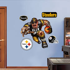 pittsburgh steelers home decor great pittsburgh steelers football cheap fathead pittsburgh steelers steamroller steeler fathead with pittsburgh steelers home decor