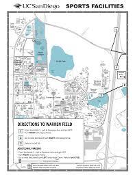 Ucsd Maps Ucsd Warren Fields Sports Facilities
