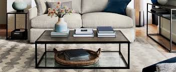 Small L Tables For Living Room How To Style A Coffee Table Crate And Barrel