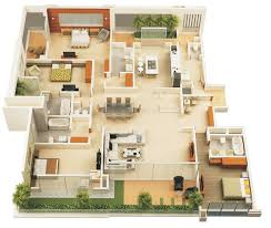 3d designarchitecturehome plan pro 50 four 4 bedroom apartment house plans bedroom apartment