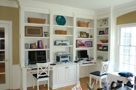 Bookcases For Office We Could Do 2 Work Stations Wall Of Bookshelves And Desk Bc328