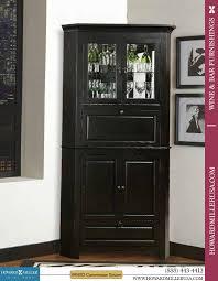 Vertical Bar Cabinet And Spirit Black Corner Cabinets 695 082 Cornerstone Estates For