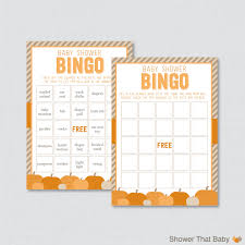 Halloween Bingo Free Printable Cards by Little Pumpkin Baby Shower Bingo Cards Printable Prefilled