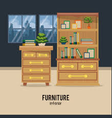 home interior vector furniture home interior royalty free vector image