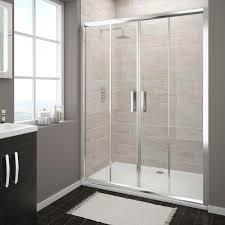 turin double sliding 8mm easy fit shower door 1400mm victorian